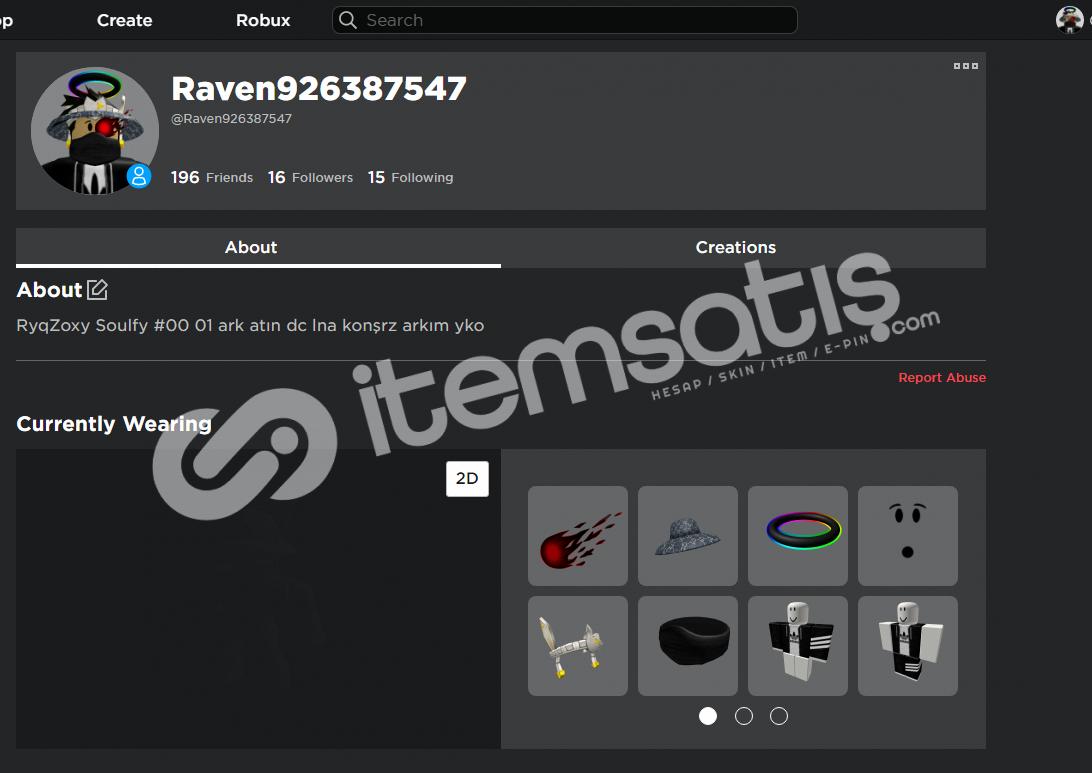 Raven926387547 hesabın adı 4k total var