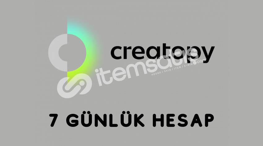 Creatopy Premium 7 Günlük Sınırsız Kullanım Hesabı