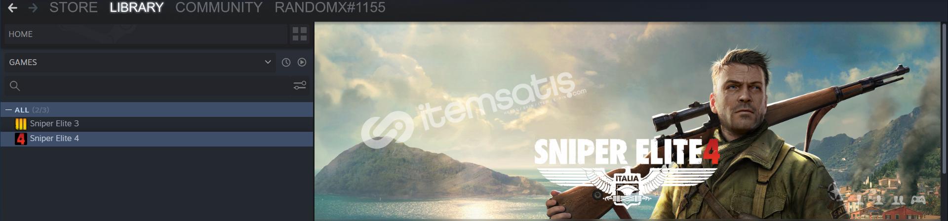Sniper Elite 3 / Sniper Elite 4 Orijinal Steam Hesabı 3TL