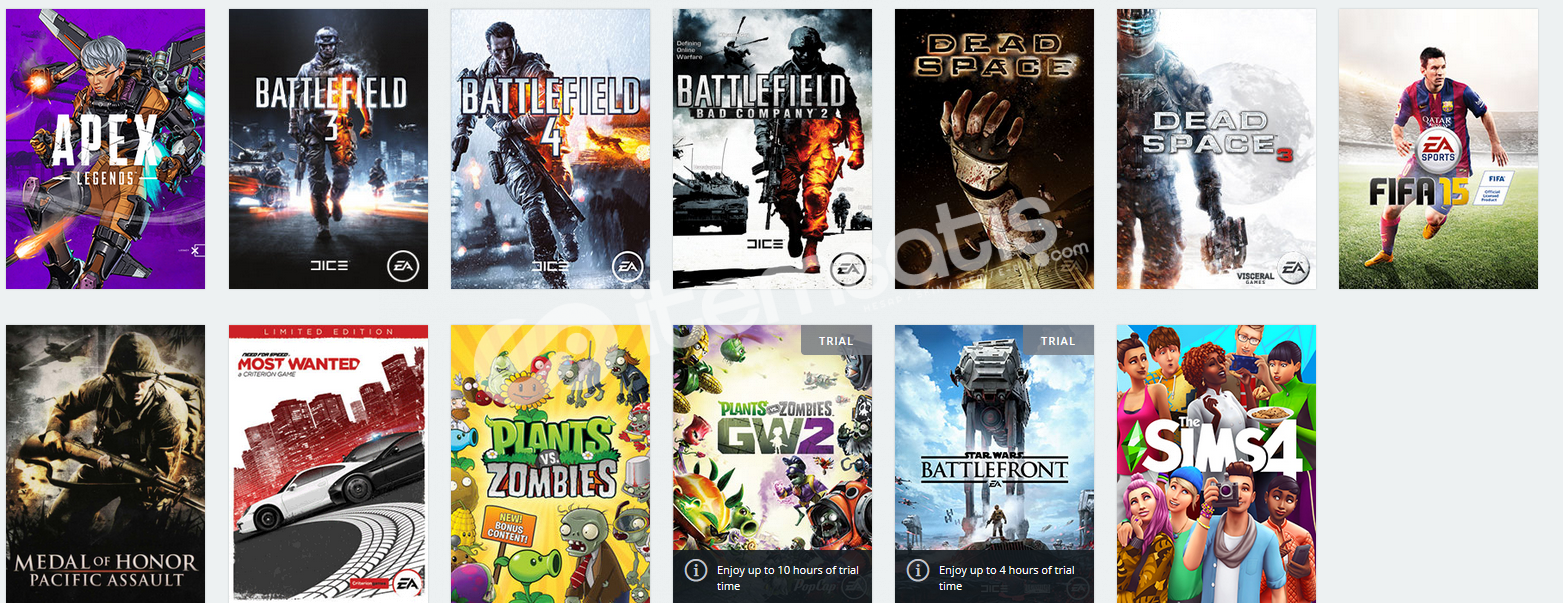 Origin Hesap Battlefield , Fifa , The Sims 4 vb.