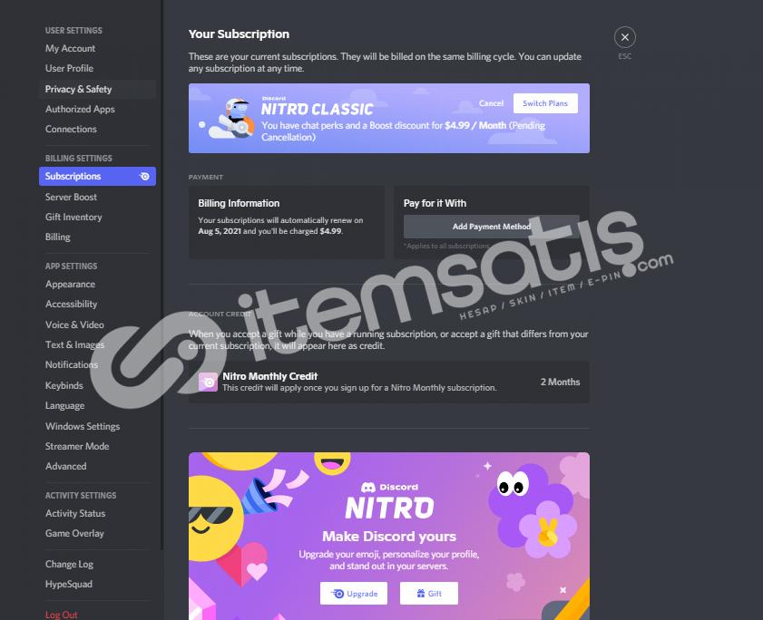Discord Nitro Method Epic Games Değil Yapımı Çok basit