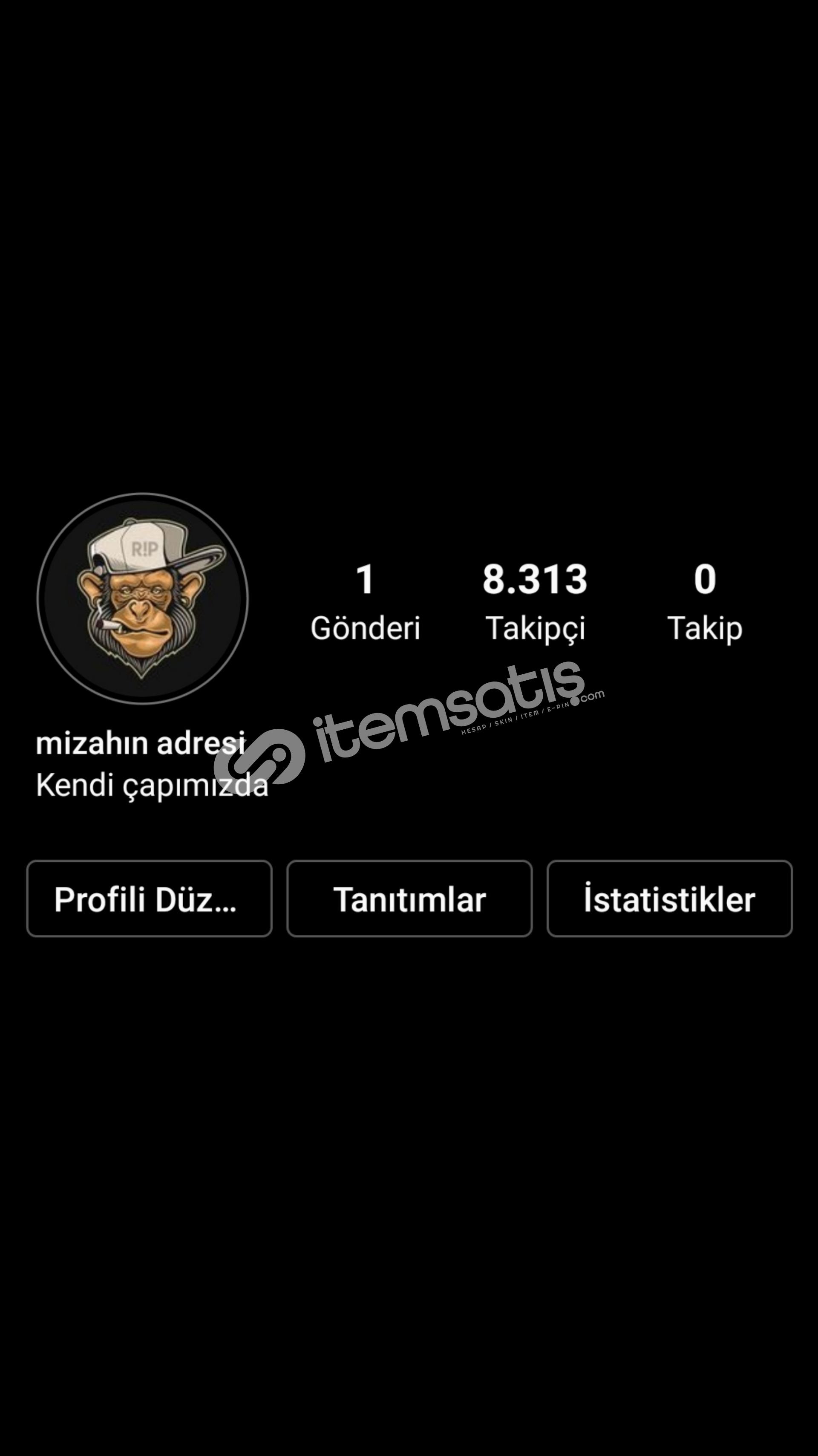 8.5k %100 Aktif Türk Takipçili Mizah Hesabı