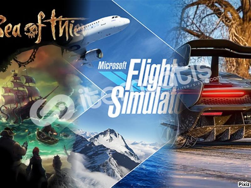 Forza Horizon 4 + Sea of Thieves + Flight Sim.