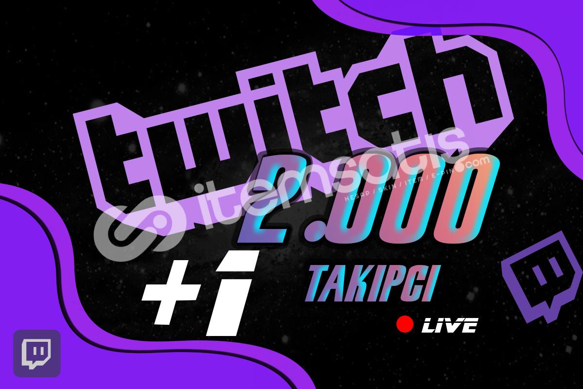 Twitch Takipçi - 2000 Adet %40 İndirim 10 STOK