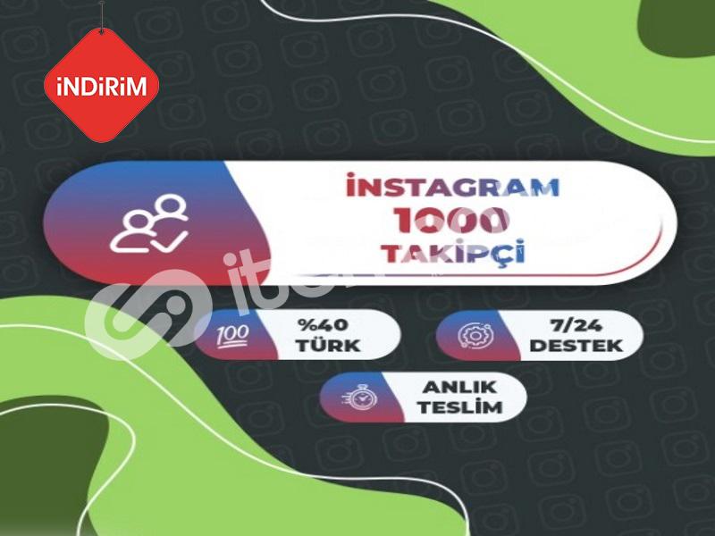 İNDİRİM 1.000 Instagram Takipçi Paketi