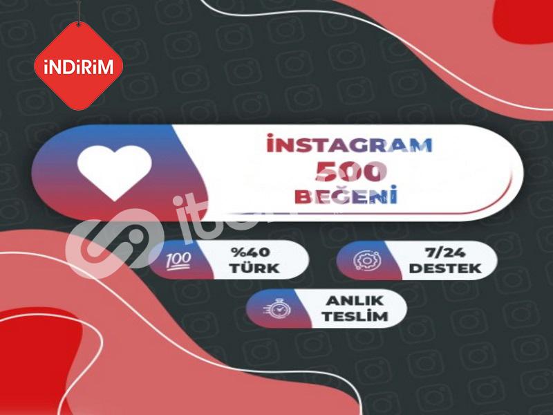 İNDİRİM 500 GERÇEK Instagram Beğeni Paketi