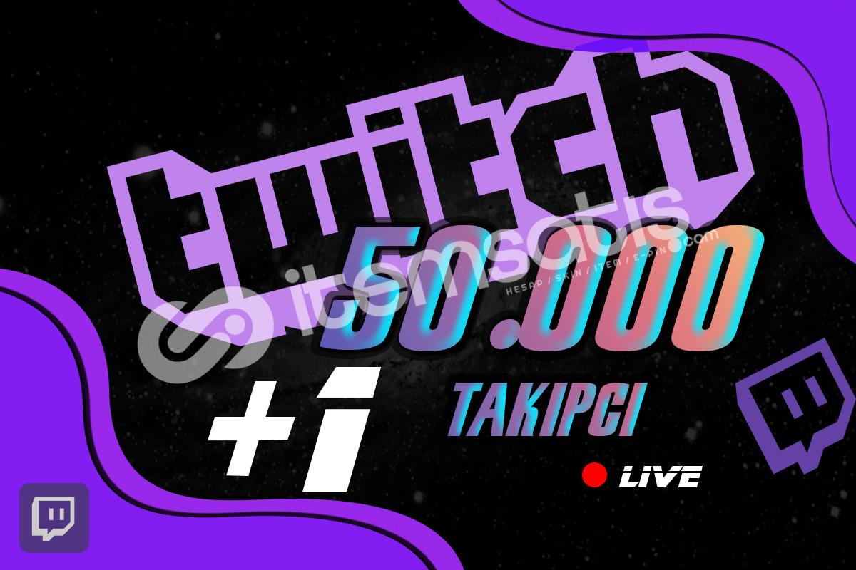 Twitch Takipçi -50.000 Adet %40 İndirim 10 STOK