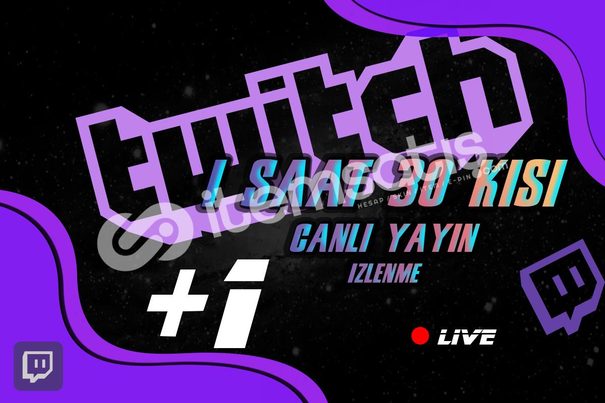 Twitch - 1 Saat boyunca 30 Kişi İzleyici AVANTAJLI FİYATLAR