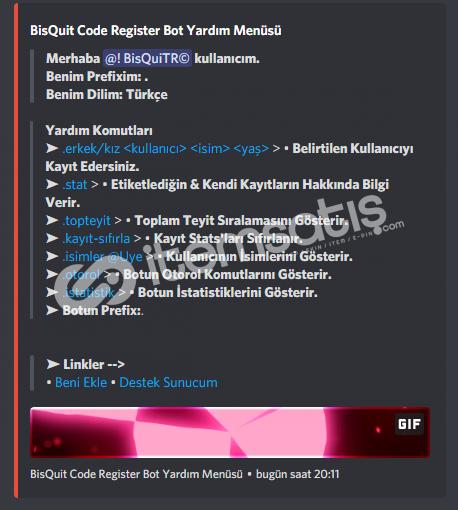 Discord Kayıt Bot Altyapısı