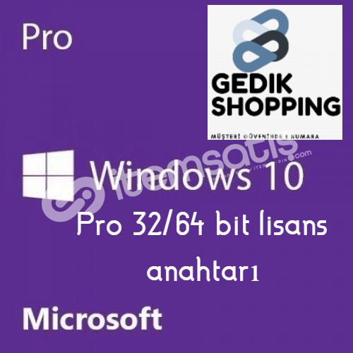 Windows 10 Pro 32x64 bit Lisans Anahtarı