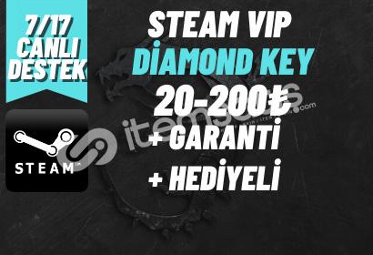 DIAMOND KEY + GARANTİ + HEDİYELİ GOLD KEY (20-200₺) ARASI!