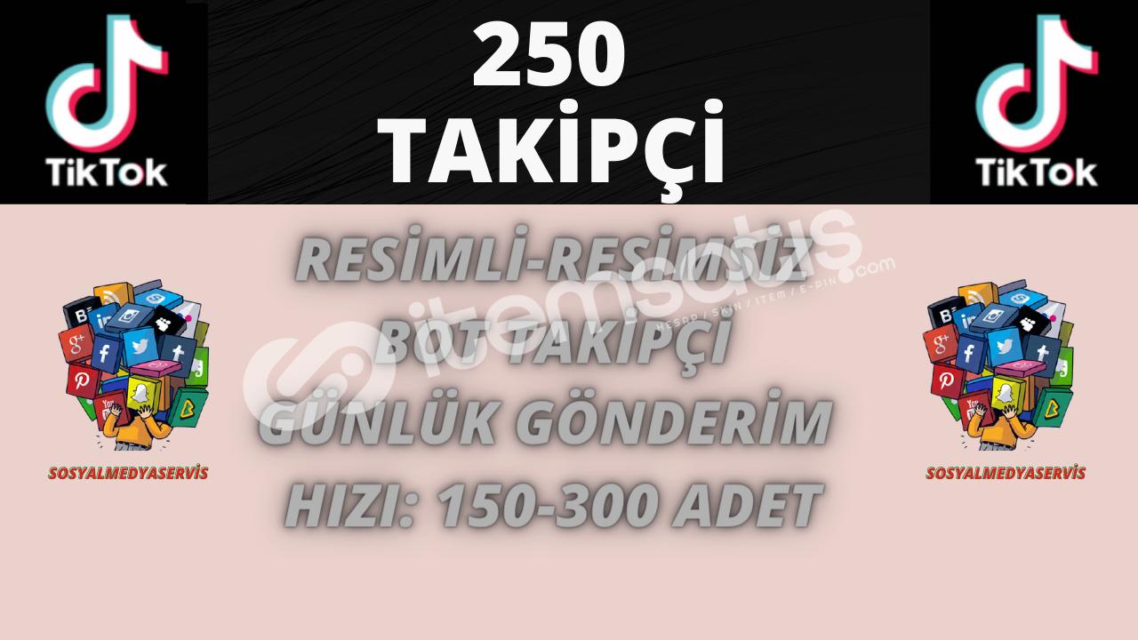TİKTOK 250 BOT TAKİPÇİ | 3.5 TL