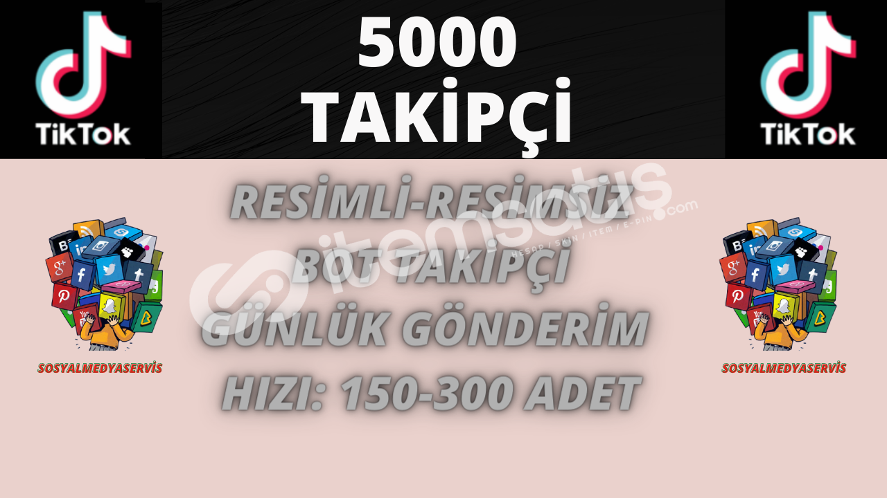 TİKTOK 5.000 BOT TAKİPÇİ | 40 TL