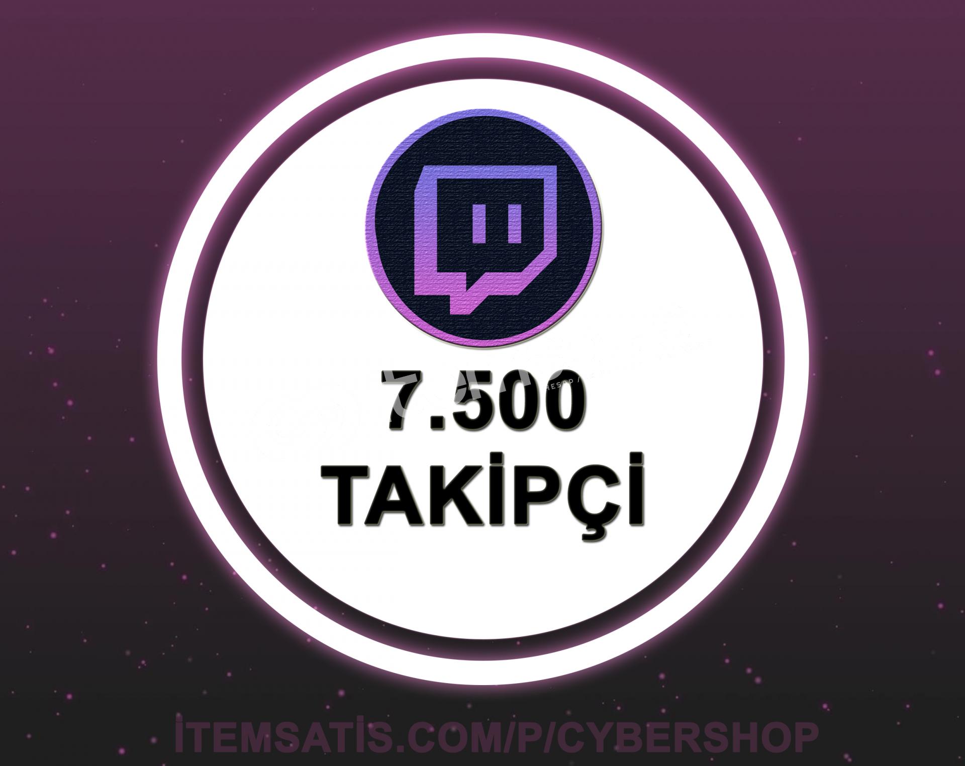 Twitch 7.500 Takipçi (30 Gün Garantili + Hızlı Teslimat)