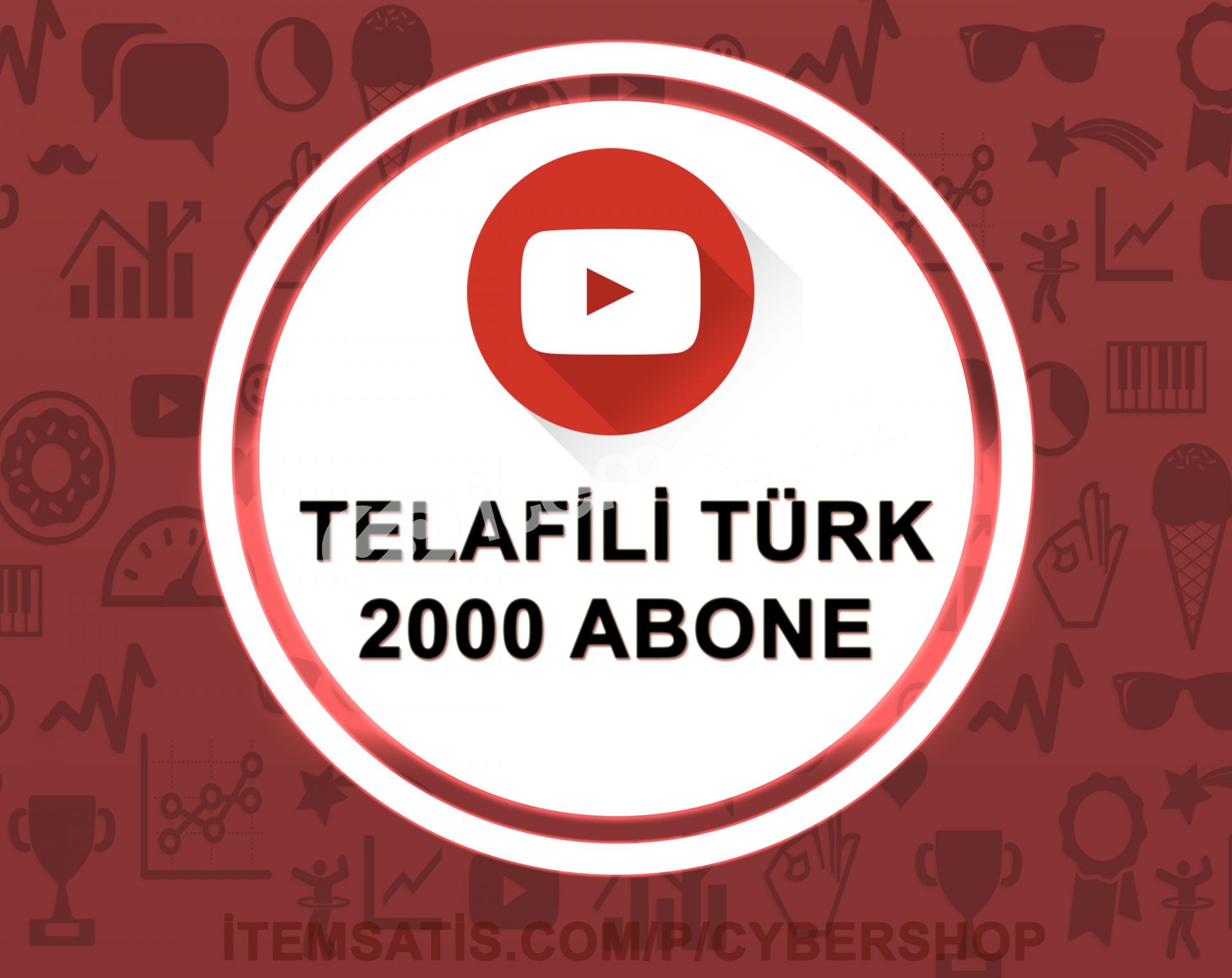 15 Gün Telafili Türk 2000 Abone (Hızlı Teslimat)