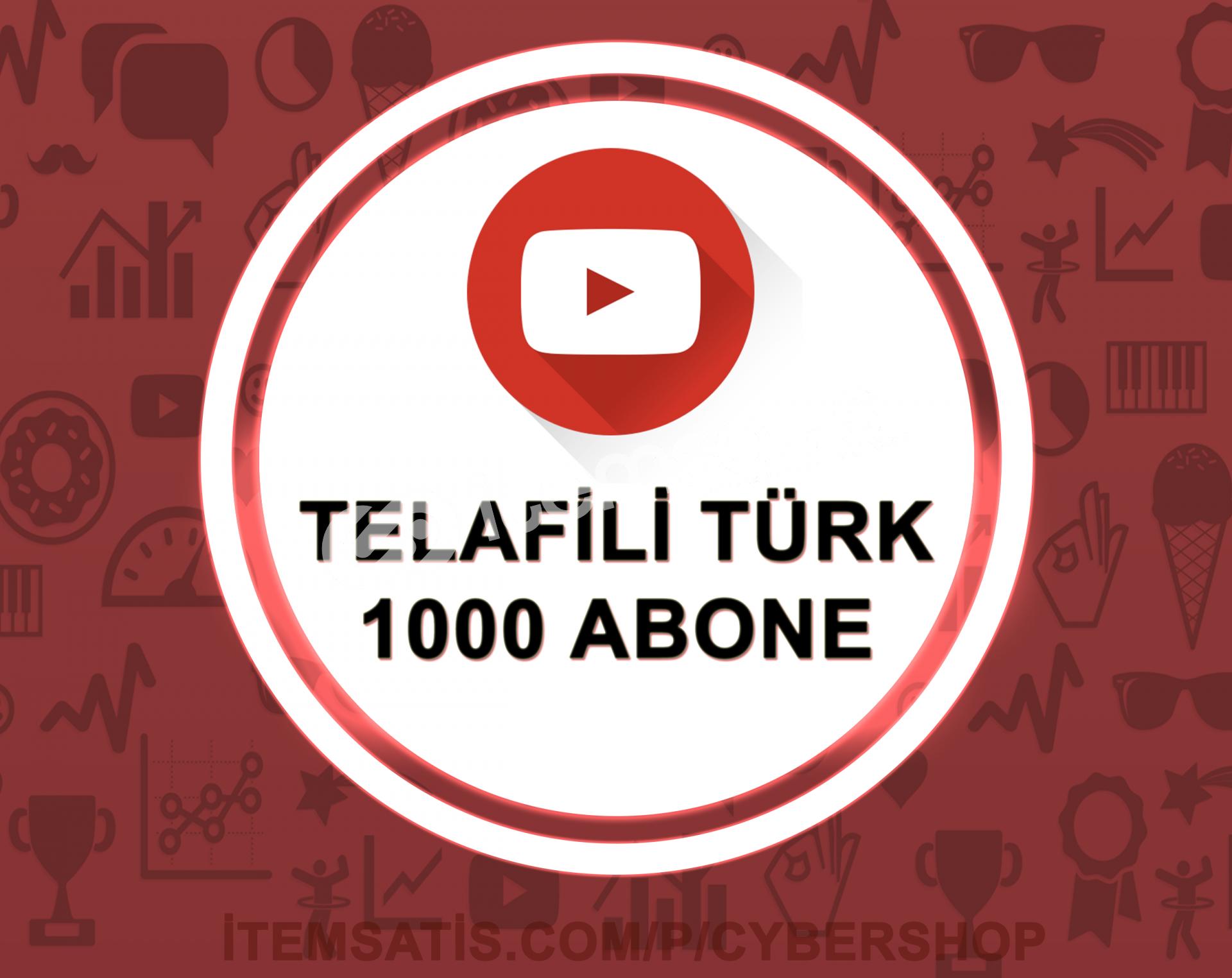 15 Gün Telafili Türk 1000 Abone (Hızlı Teslimat)