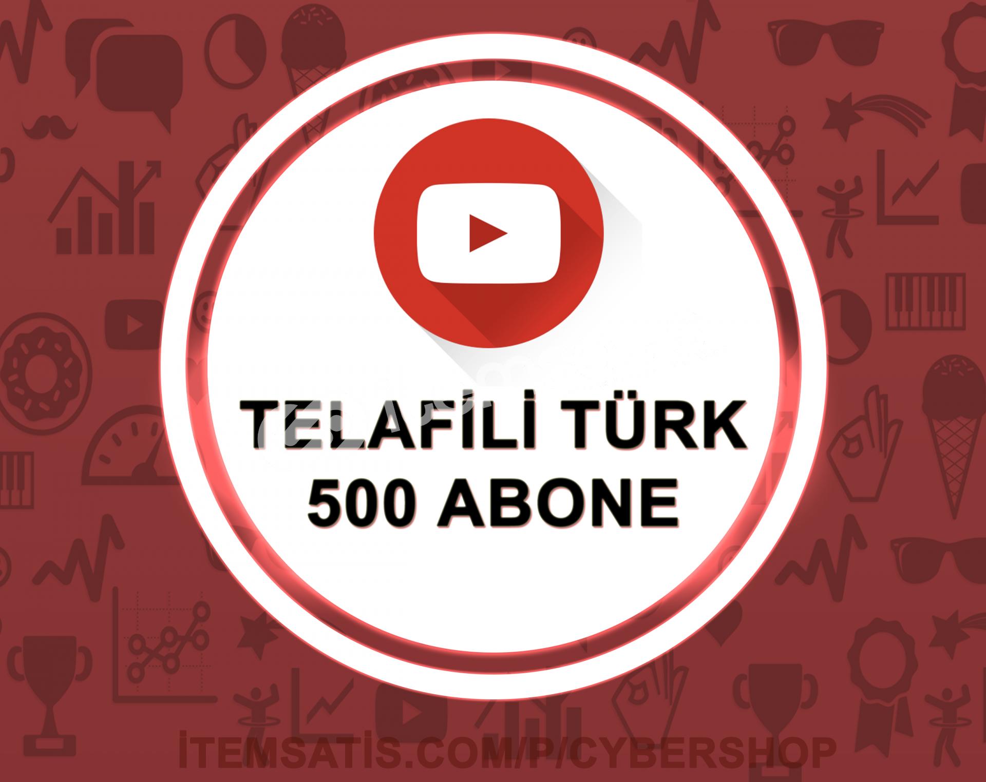 15 Gün Telafili Türk 500 Abone (Hızlı Teslimat)