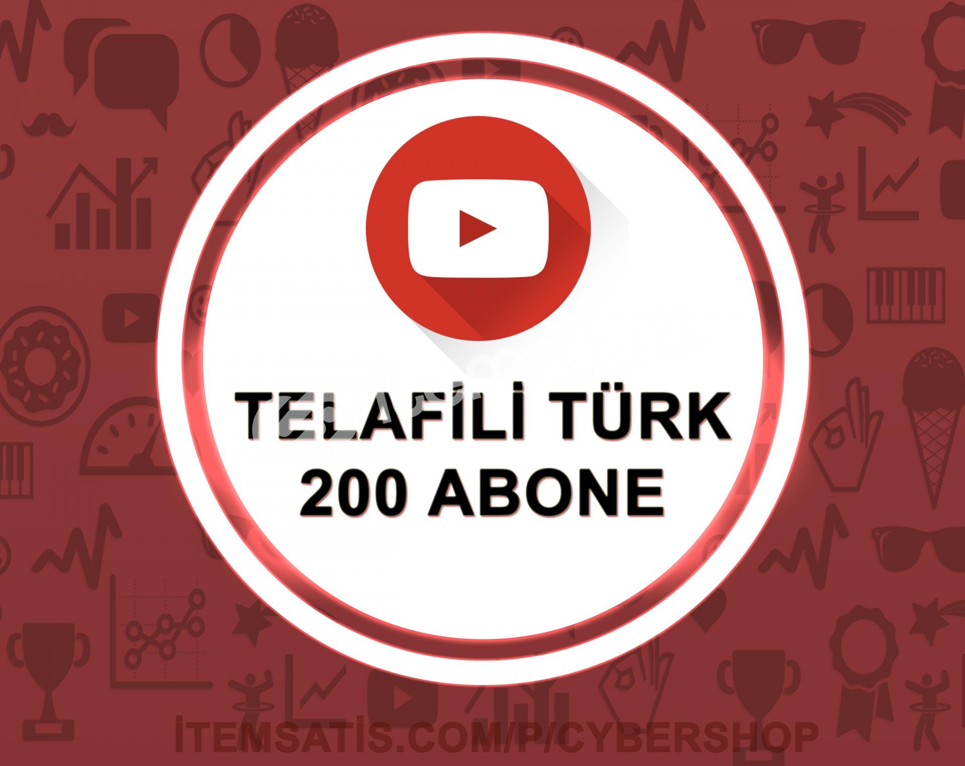 15 Gün Telafili Türk 200 Abone (Hızlı Teslimat)