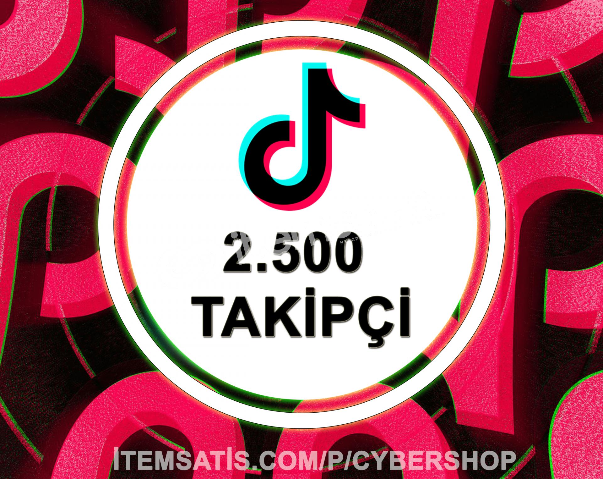 TikTok 2500 Takipçi Paketi (%10 İndirim)