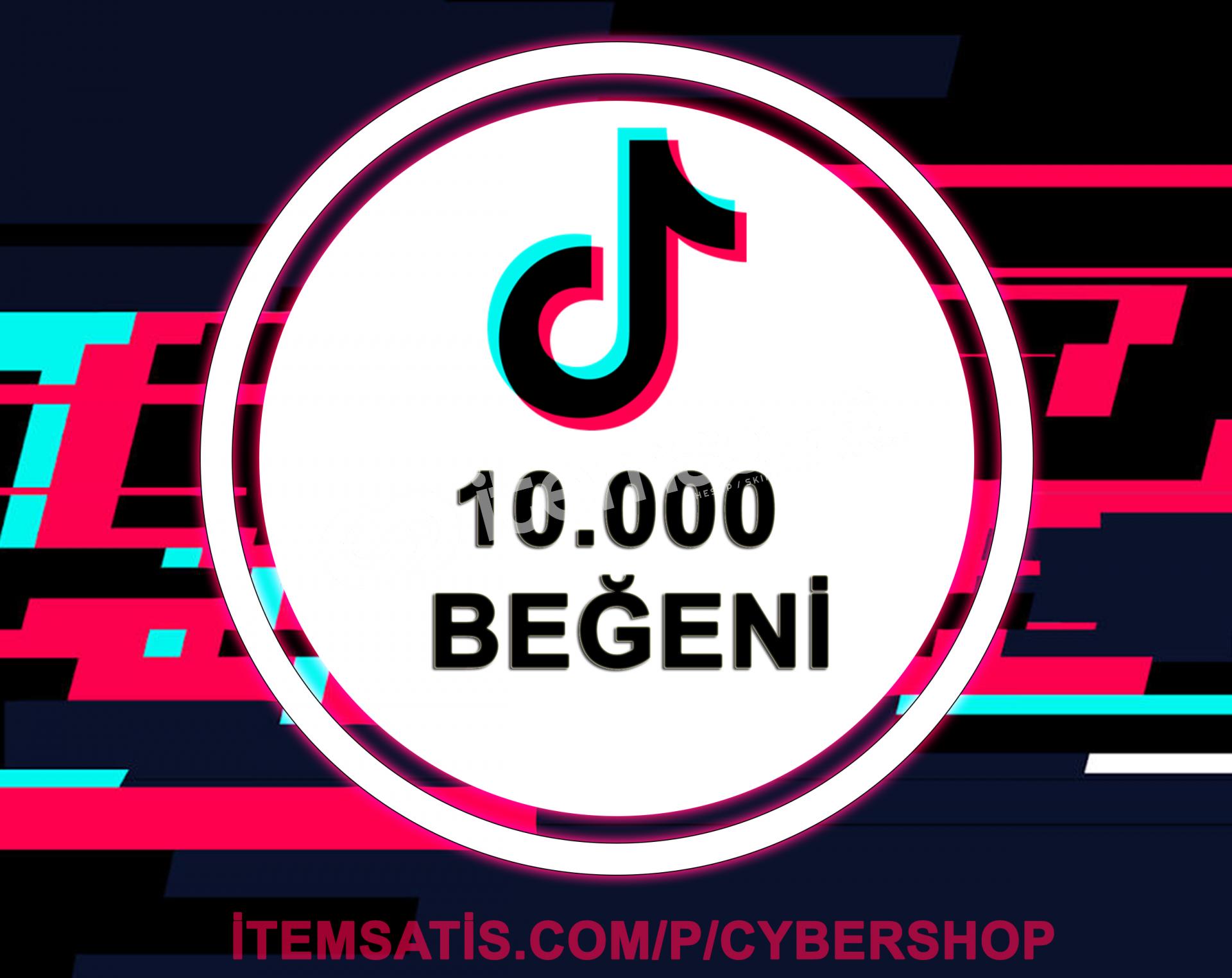 TikTok 10000 Beğeni (Anlık Gönderim)