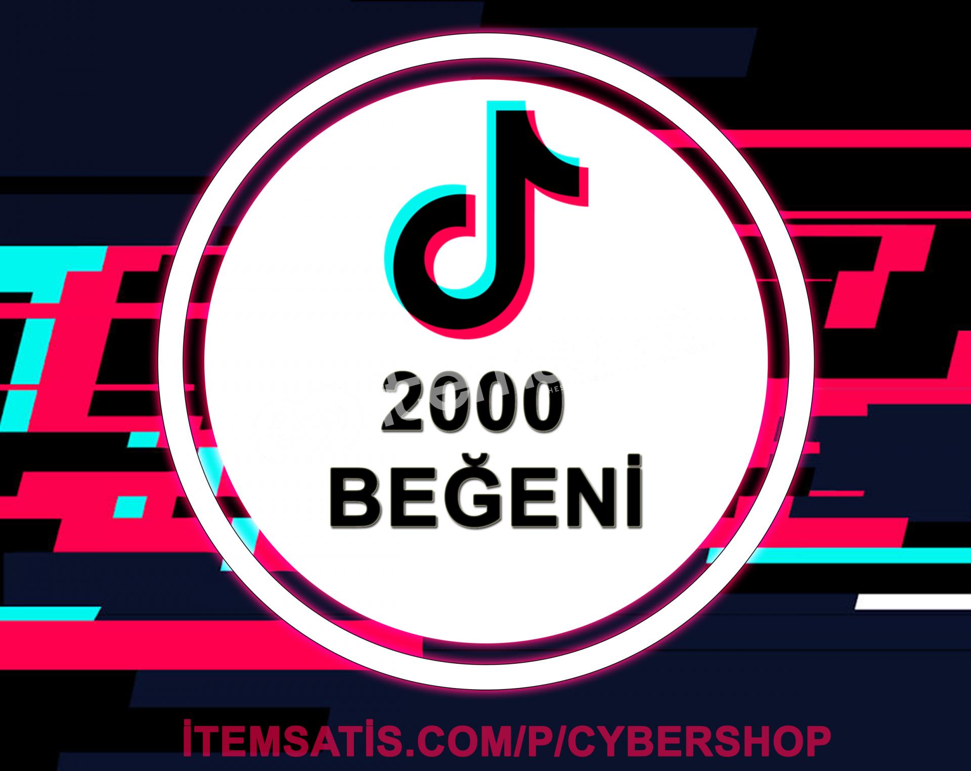 TikTok 2000 Beğeni (Anlık Gönderim)