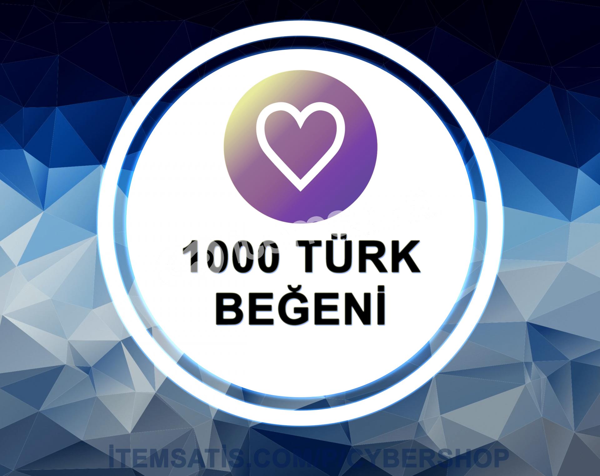 1.000 [TÜRK] Beğeni Paketi (Anlık Gönderim)