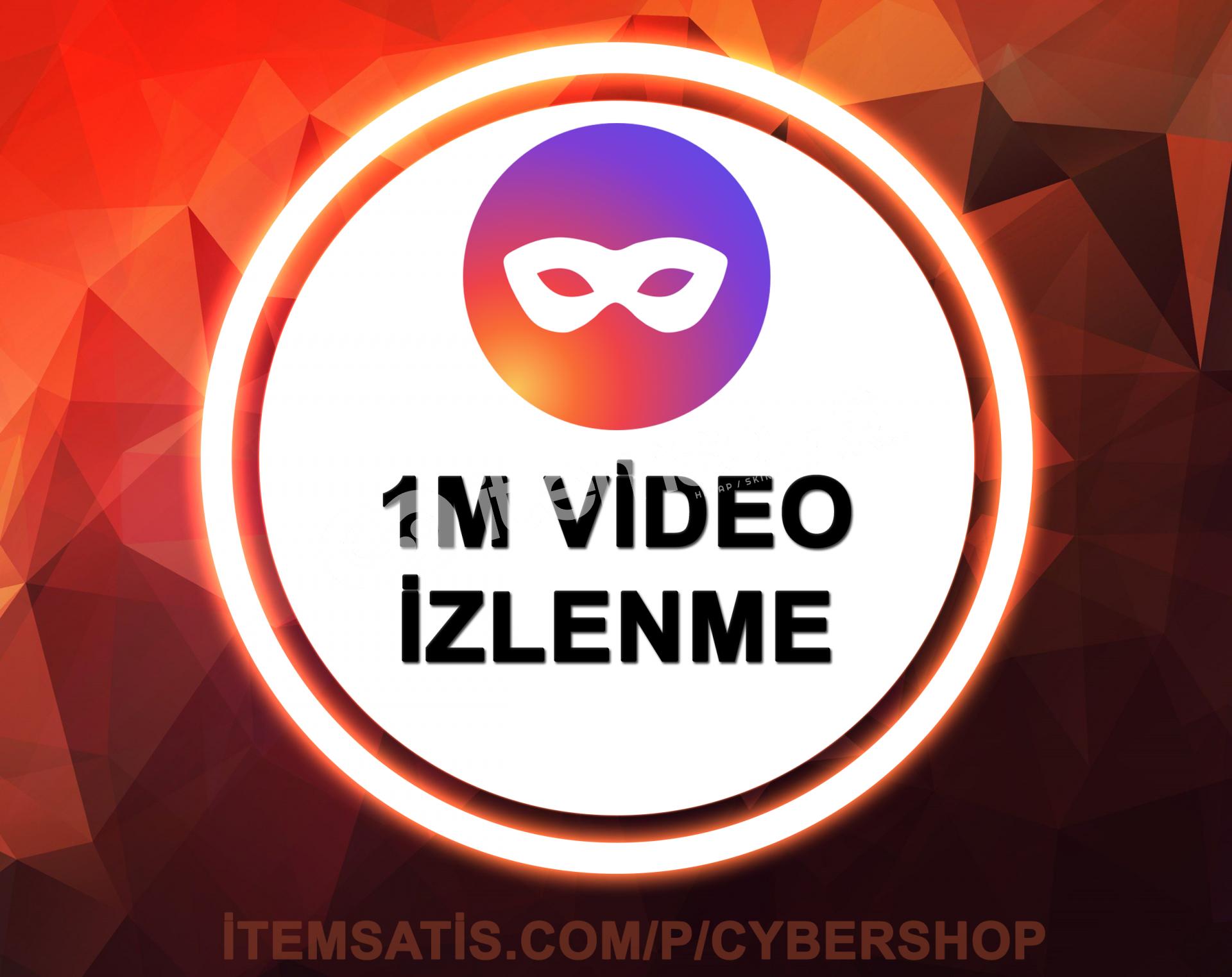 1.000.000 Video İzlenme Paketi (Keşfet Etkili)