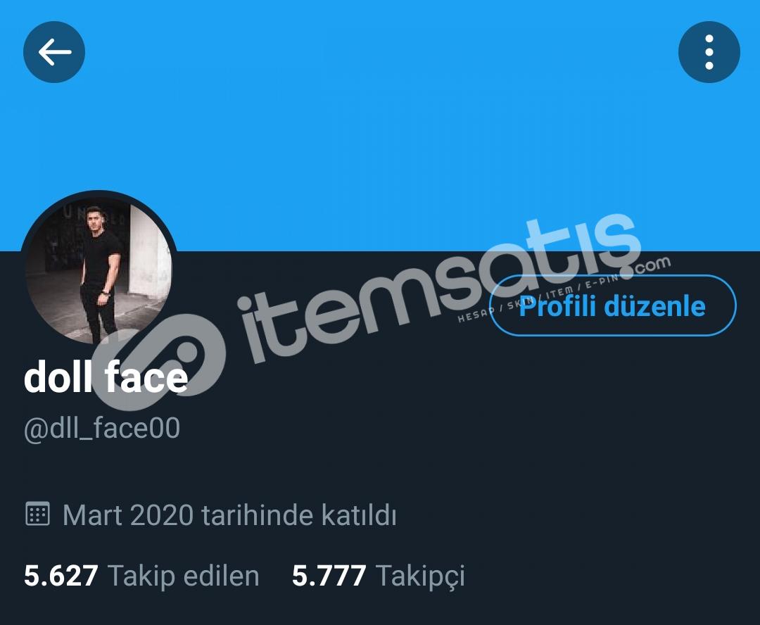 5.7k Twitter hesabı satılıktır