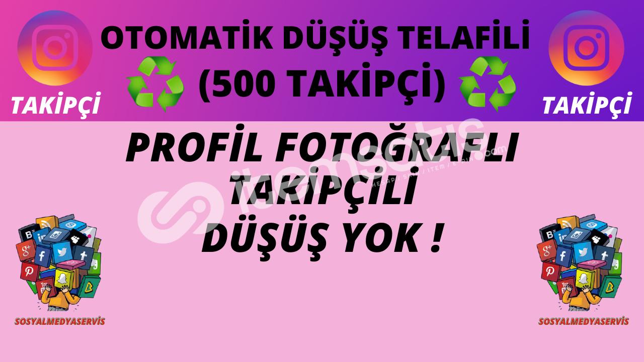 500 TAKİPÇİ | OTO TELAFİLİ ♻️ | DÜŞÜŞ YOK ! | 9 TL