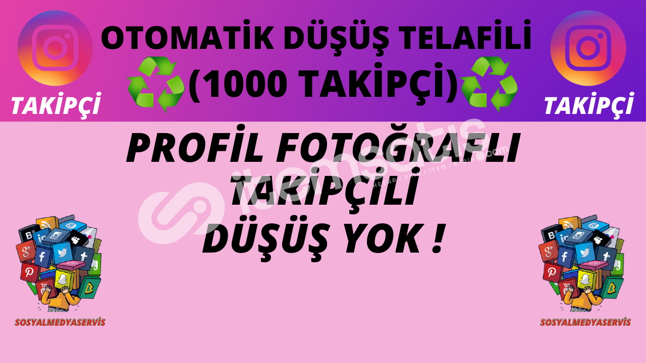 1000 TAKİPÇİ | OTO TELAFİLİ ♻️ | DÜŞÜŞ YOK ! | 15 TL