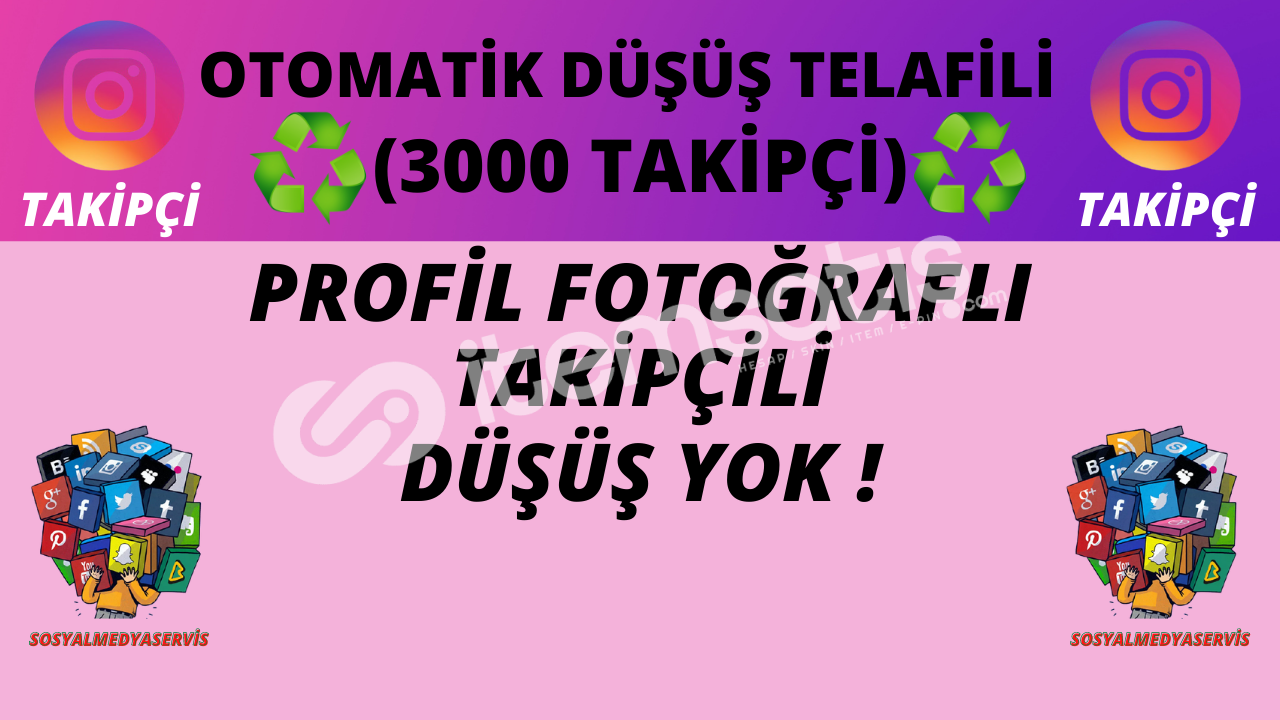 3000 TAKİPÇİ | OTO TELAFİLİ ♻️ | DÜŞÜŞ YOK ! | 40 TL