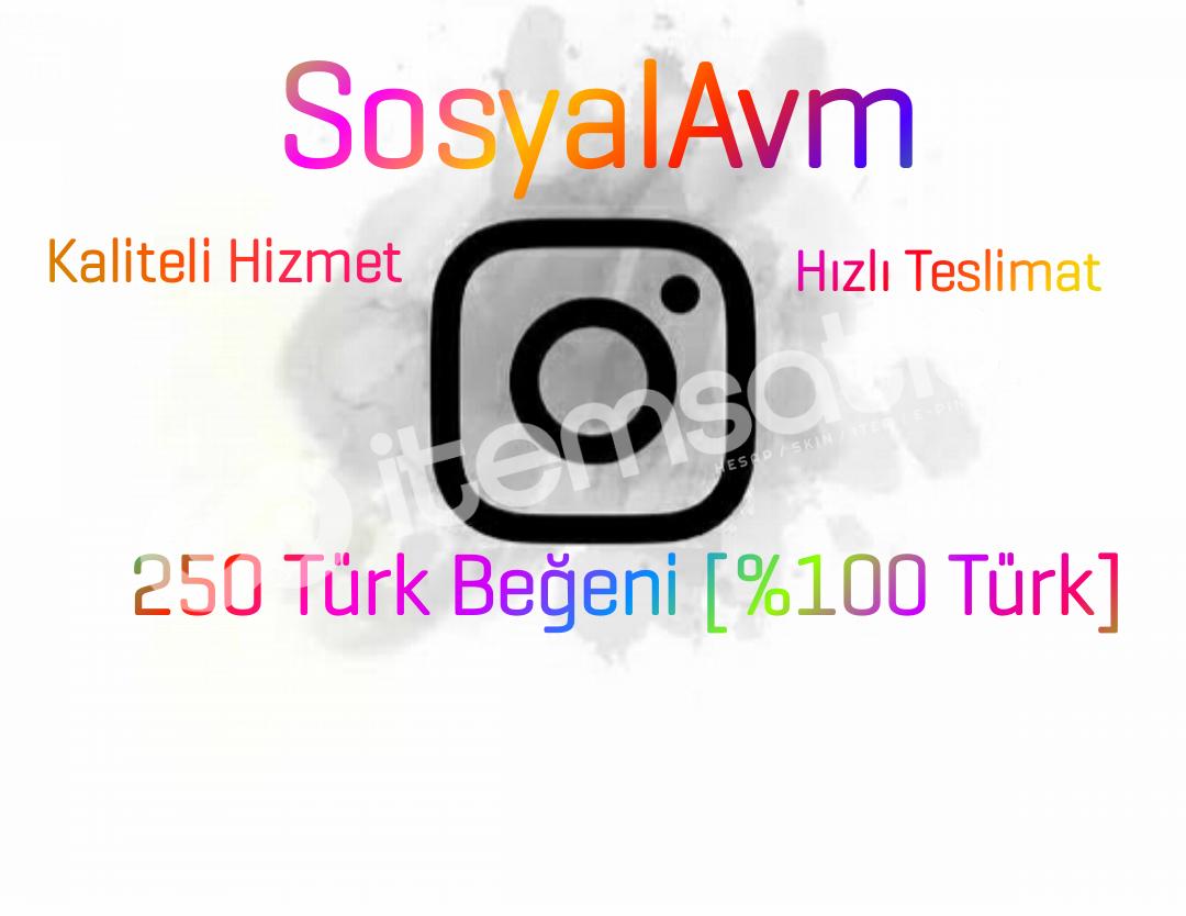 250 Türk Beğeni [Hızlı Teslimat]