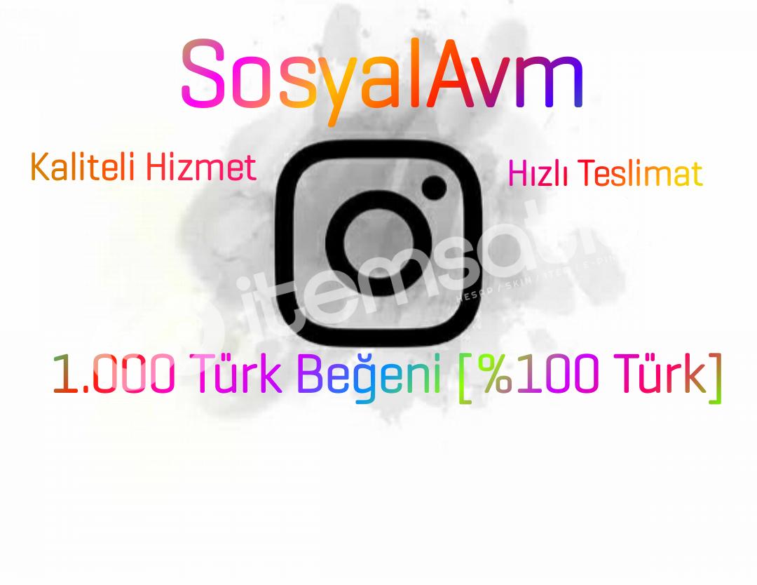 1.000 Türk Beğeni [Hızlı Teslimat]