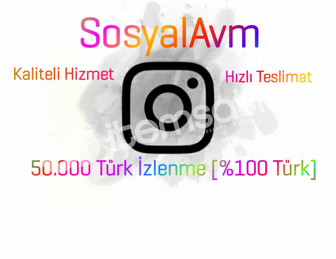 50.000 Türk İzlenme [Anlık Gönderim]
