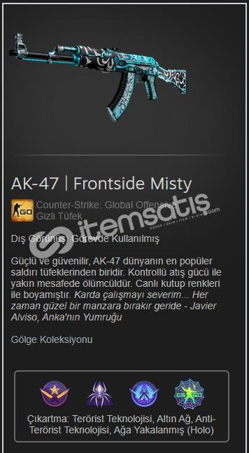 AK-47 | Frontside Misty 4 Adet Çıkartması Var.