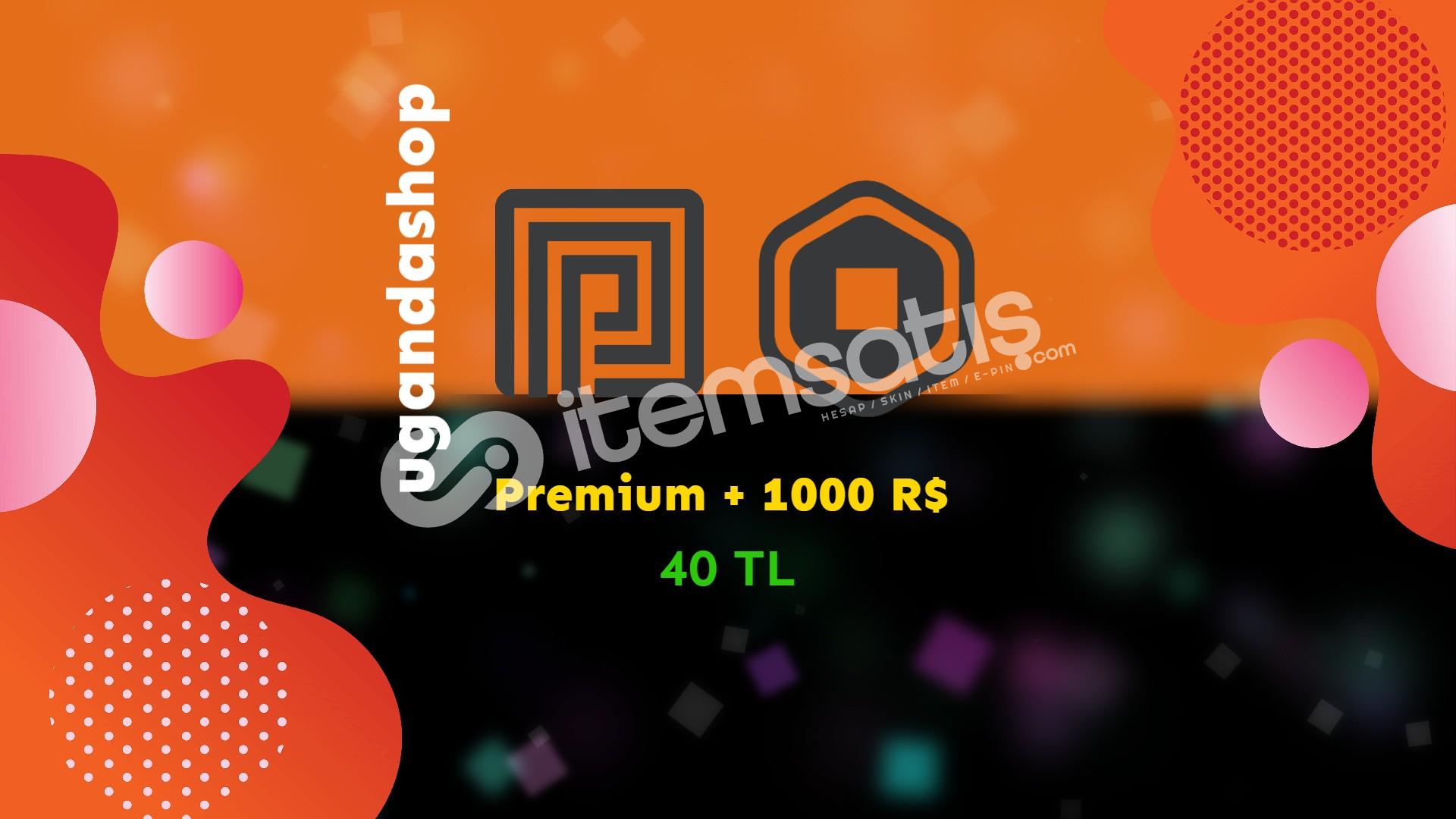 Roblox 1000 Robux + 1 Aylık Roblox Premium