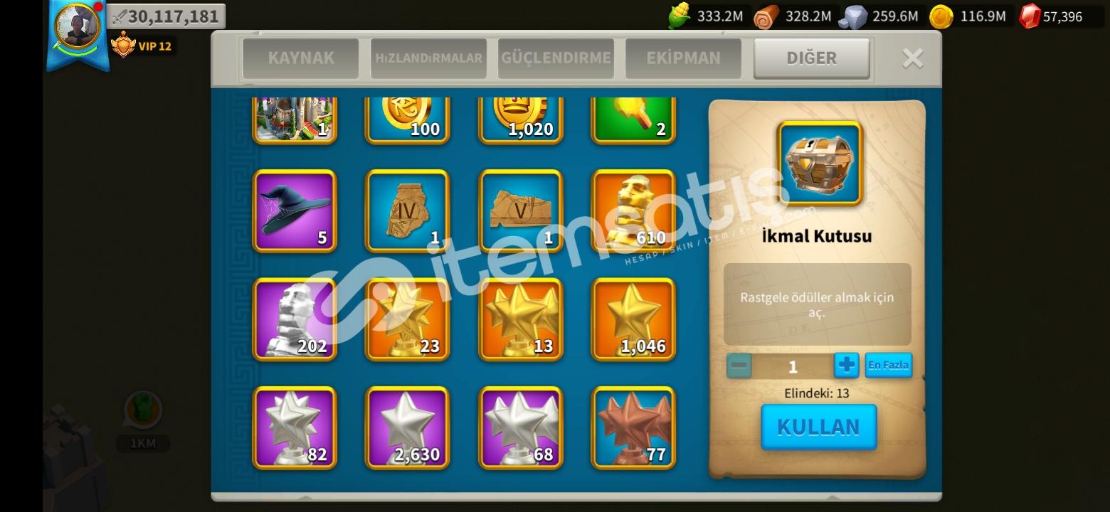 60k elmas 610 altın kafa 30M