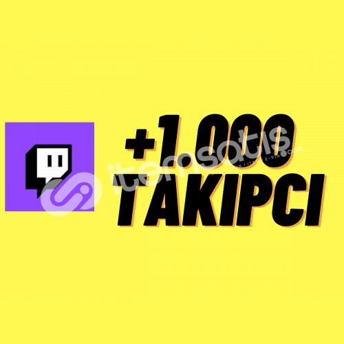 TWİTCH 1.000 TAKİPÇİ + HIZLI TESLİMAT