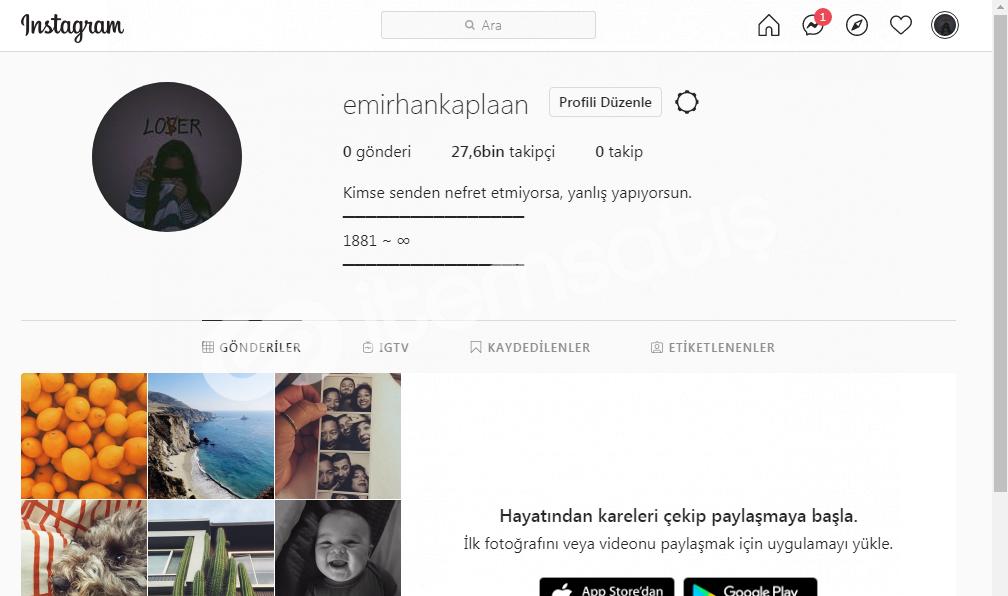 Satılık 27.6k instagram hesabı