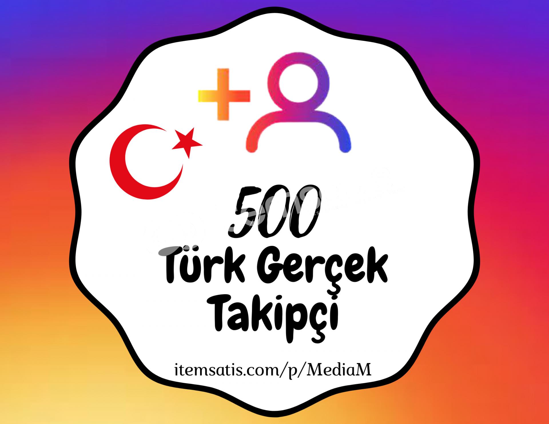 500 İnstagram [%100] Türk Takipçi Paketi