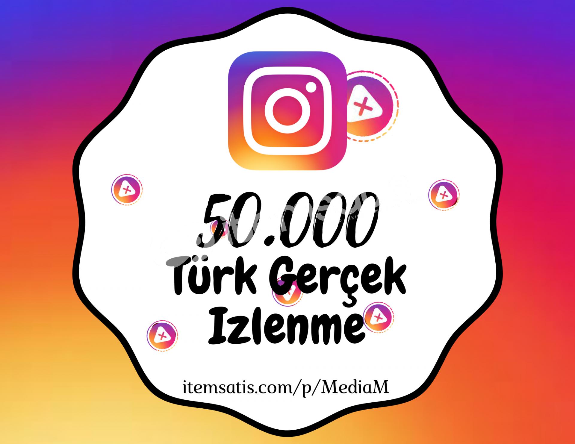 50.000 İnstagram [Türk] Video İzlenme Paketi (Keşfet Etkili)