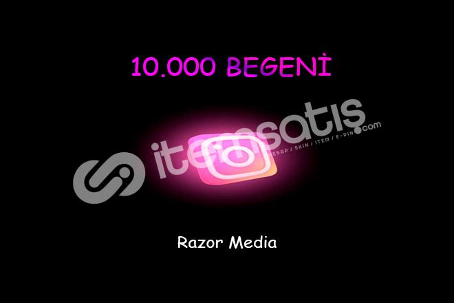 İNSTAGRAM 10.000 BEGENİ