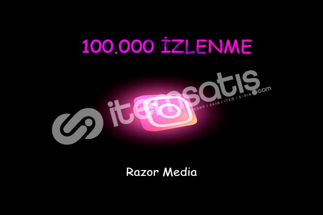İNSTAGRAM 100.000 İZLENME