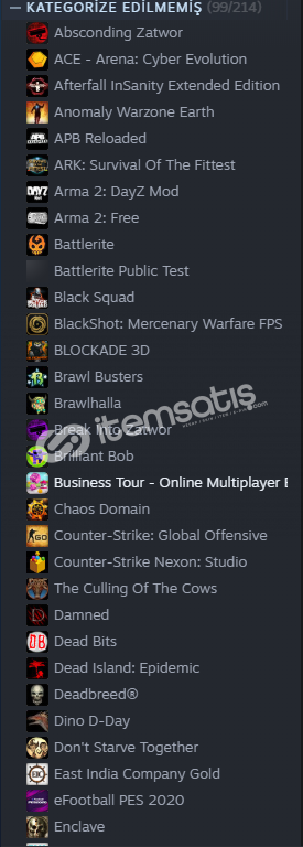 96 oyunlu steam hesabı