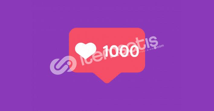 İnstagram 1000 Beğeni