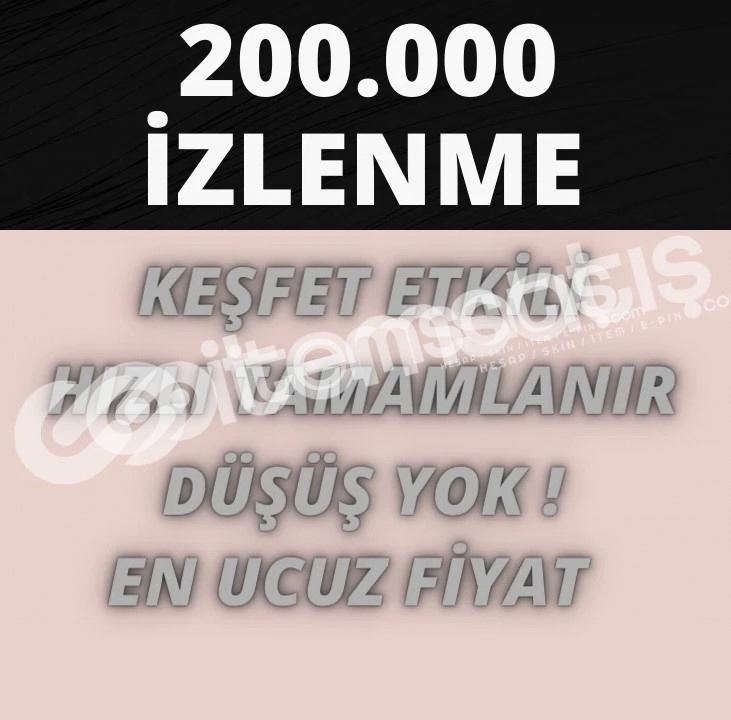 TİKTOK KALİTELİ 200.000 İZLENME EN UYGUN FİYAT GARANTİSİ!