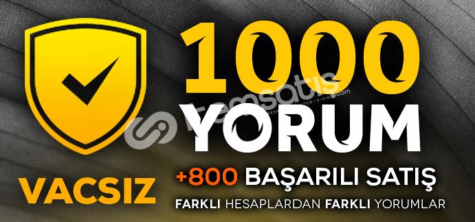 1000 VACSIZ YORUM