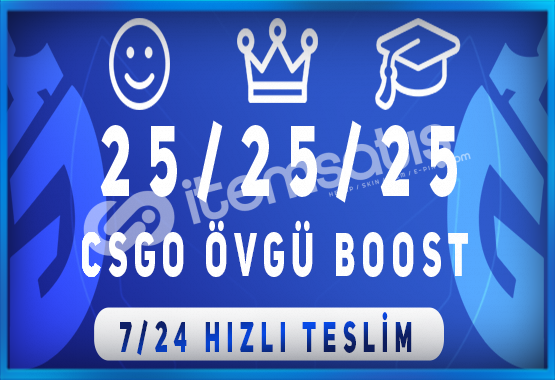İNDİRİMLİ ! 75 ADET ÖVGÜ BOOST HİZMETİ 7/24 HIZLI TESLİM !