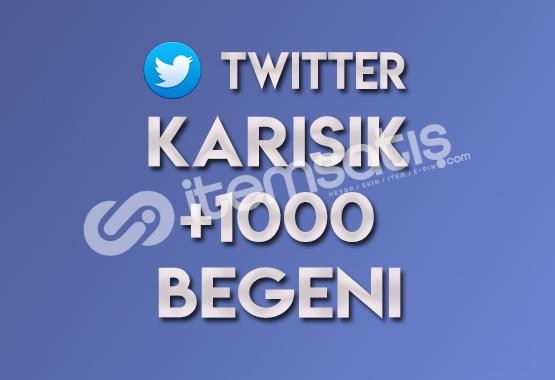 1.000 Karışık Twitter Beğeni
