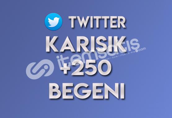 250 Karışık Twitter Beğeni